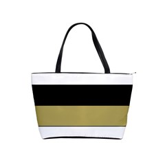 Black Brown Gold White Horizontal Stripes Elegant 8000 Sv Festive Stripe Shoulder Handbags