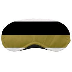 Black Brown Gold White Horizontal Stripes Elegant 8000 Sv Festive Stripe Sleeping Masks