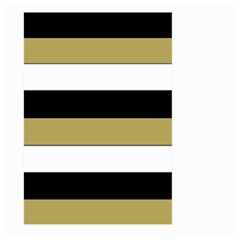 Black Brown Gold White Horizontal Stripes Elegant 8000 Sv Festive Stripe Large Garden Flag (Two Sides)