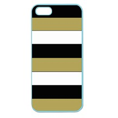 Black Brown Gold White Horizontal Stripes Elegant 8000 Sv Festive Stripe Apple Seamless iPhone 5 Case (Color)