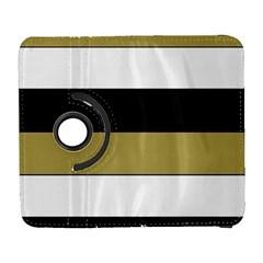 Black Brown Gold White Horizontal Stripes Elegant 8000 Sv Festive Stripe Galaxy S3 (flip/folio)