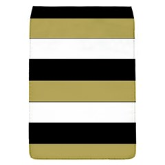 Black Brown Gold White Horizontal Stripes Elegant 8000 Sv Festive Stripe Flap Covers (S)