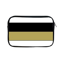 Black Brown Gold White Horizontal Stripes Elegant 8000 Sv Festive Stripe Apple iPad Mini Zipper Cases