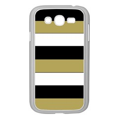 Black Brown Gold White Horizontal Stripes Elegant 8000 Sv Festive Stripe Samsung Galaxy Grand DUOS I9082 Case (White)