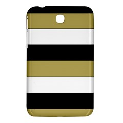 Black Brown Gold White Horizontal Stripes Elegant 8000 Sv Festive Stripe Samsung Galaxy Tab 3 (7 ) P3200 Hardshell Case