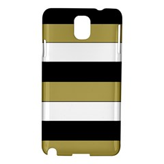 Black Brown Gold White Horizontal Stripes Elegant 8000 Sv Festive Stripe Samsung Galaxy Note 3 N9005 Hardshell Case