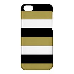 Black Brown Gold White Horizontal Stripes Elegant 8000 Sv Festive Stripe Apple iPhone 5C Hardshell Case