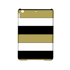 Black Brown Gold White Horizontal Stripes Elegant 8000 Sv Festive Stripe iPad Mini 2 Hardshell Cases