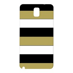 Black Brown Gold White Horizontal Stripes Elegant 8000 Sv Festive Stripe Samsung Galaxy Note 3 N9005 Hardshell Back Case