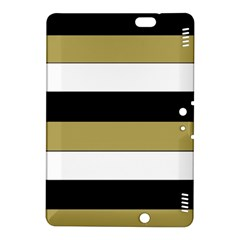 Black Brown Gold White Horizontal Stripes Elegant 8000 Sv Festive Stripe Kindle Fire HDX 8.9  Hardshell Case