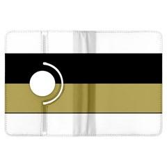 Black Brown Gold White Horizontal Stripes Elegant 8000 Sv Festive Stripe Kindle Fire HDX Flip 360 Case