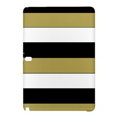 Black Brown Gold White Horizontal Stripes Elegant 8000 Sv Festive Stripe Samsung Galaxy Tab Pro 12.2 Hardshell Case