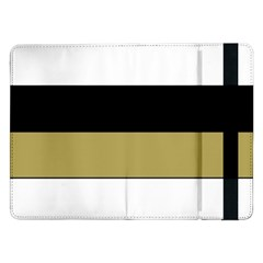 Black Brown Gold White Horizontal Stripes Elegant 8000 Sv Festive Stripe Samsung Galaxy Tab Pro 12.2  Flip Case