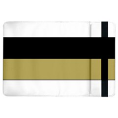 Black Brown Gold White Horizontal Stripes Elegant 8000 Sv Festive Stripe iPad Air 2 Flip