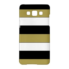 Black Brown Gold White Horizontal Stripes Elegant 8000 Sv Festive Stripe Samsung Galaxy A5 Hardshell Case