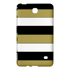 Black Brown Gold White Horizontal Stripes Elegant 8000 Sv Festive Stripe Samsung Galaxy Tab 4 (7 ) Hardshell Case