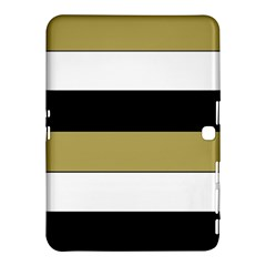 Black Brown Gold White Horizontal Stripes Elegant 8000 Sv Festive Stripe Samsung Galaxy Tab 4 (10.1 ) Hardshell Case
