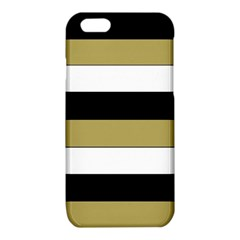 Black Brown Gold White Horizontal Stripes Elegant 8000 Sv Festive Stripe iPhone 6/6S TPU Case