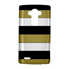 Black Brown Gold White Horizontal Stripes Elegant 8000 Sv Festive Stripe LG G4 Hardshell Case