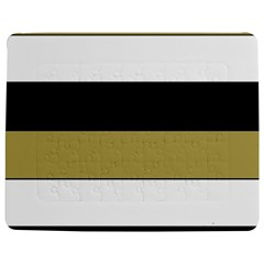 Black Brown Gold White Horizontal Stripes Elegant 8000 Sv Festive Stripe Jigsaw Puzzle Photo Stand (Rectangular)