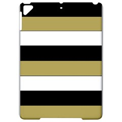 Black Brown Gold White Horizontal Stripes Elegant 8000 Sv Festive Stripe Apple iPad Pro 9.7   Hardshell Case