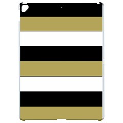 Black Brown Gold White Horizontal Stripes Elegant 8000 Sv Festive Stripe Apple Ipad Pro 12 9   Hardshell Case