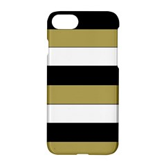 Black Brown Gold White Horizontal Stripes Elegant 8000 Sv Festive Stripe Apple iPhone 7 Hardshell Case
