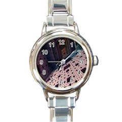 Industry Fractals Geometry Graphic Round Italian Charm Watch