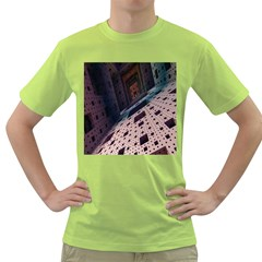 Industry Fractals Geometry Graphic Green T-Shirt