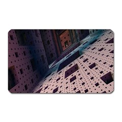 Industry Fractals Geometry Graphic Magnet (Rectangular)