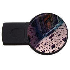 Industry Fractals Geometry Graphic USB Flash Drive Round (2 GB)