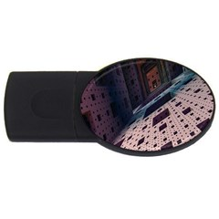 Industry Fractals Geometry Graphic USB Flash Drive Oval (1 GB)