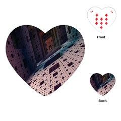 Industry Fractals Geometry Graphic Playing Cards (Heart)