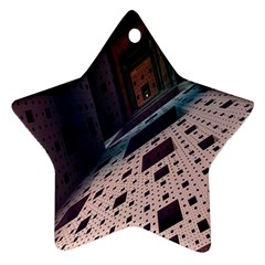 Industry Fractals Geometry Graphic Star Ornament (Two Sides)