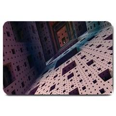 Industry Fractals Geometry Graphic Large Doormat