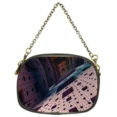 Industry Fractals Geometry Graphic Chain Purses (One Side)