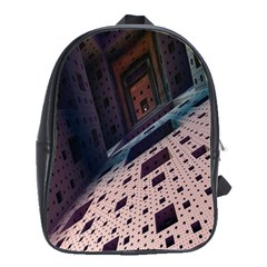 Industry Fractals Geometry Graphic School Bags(Large)