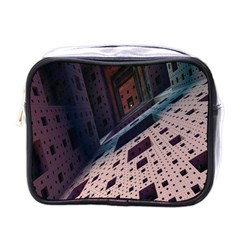 Industry Fractals Geometry Graphic Mini Toiletries Bags