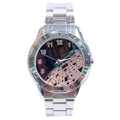 Industry Fractals Geometry Graphic Stainless Steel Analogue Watch