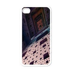 Industry Fractals Geometry Graphic Apple iPhone 4 Case (White)