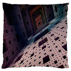Industry Fractals Geometry Graphic Large Cushion Case (Two Sides)