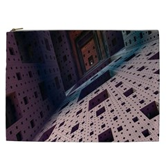 Industry Fractals Geometry Graphic Cosmetic Bag (XXL)