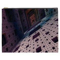 Industry Fractals Geometry Graphic Cosmetic Bag (XXXL)