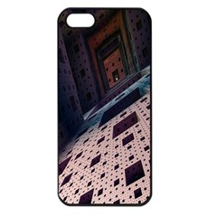 Industry Fractals Geometry Graphic Apple iPhone 5 Seamless Case (Black)
