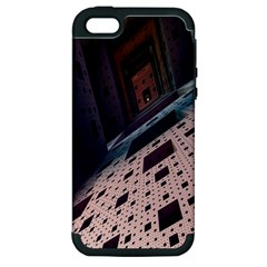 Industry Fractals Geometry Graphic Apple iPhone 5 Hardshell Case (PC+Silicone)