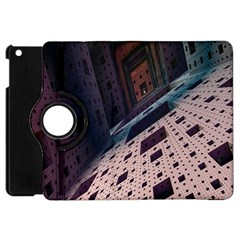 Industry Fractals Geometry Graphic Apple iPad Mini Flip 360 Case