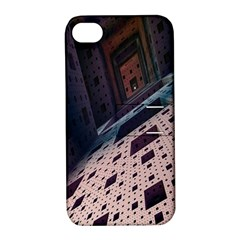 Industry Fractals Geometry Graphic Apple iPhone 4/4S Hardshell Case with Stand