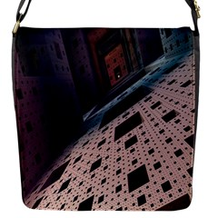 Industry Fractals Geometry Graphic Flap Messenger Bag (S)