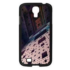 Industry Fractals Geometry Graphic Samsung Galaxy S4 I9500/ I9505 Case (Black)