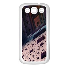 Industry Fractals Geometry Graphic Samsung Galaxy S3 Back Case (White)